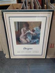 Sale 9087 - Lot 2047 - A Degas exhibition poster from the Tate Gallery, frame: 99 x 80 cm