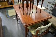 Sale 8013 - Lot 1129 - Timber Extension Dining Table on Crossed Legs