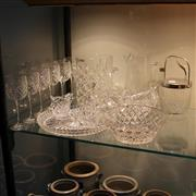 Sale 8231 - Lot 94 - Crystal Champagne Bucket with Other Crystal incl. Wine Glasses