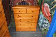 Sale 8262 - Lot 1068 - Pine Six Drawer Chest