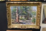 Sale 8332 - Lot 2008 - Peter Campbell - A Home in the Mountains, acrylic on canvas board, 44.5 x 59.5cm, signed lower right