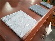 Sale 8817 - Lot 1086 - Set of 3 Square Grey Cheese Boards (20cm)