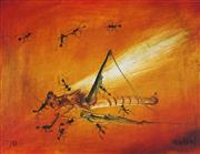 Sale 8870A - Lot 550 - Kevin Charles (Pro) Hart (1928 - 2006) - Untitled, 1970 (Ants and Grasshopper) 24 x 31.5cm