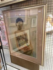 Sale 8898 - Lot 2029 - Artist Unknown - Woman Carrying Lychees 85 x 68 cm (frame size)