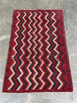 Sale 9129 - Lot 1025 - Hand knotted pure wool Persian balouchi ( 130 x 90cm)