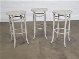 Sale 9255 - Lot 1155 - Collection of 3 timber barstools (h:70 x d:40cm)