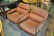 Sale 8398 - Lot 1099 - Pair of Leather Armchairs