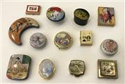 Sale 8436A - Lot 35 - A group of novelty pill and sweet tins including fashion and ballet including Stratton.