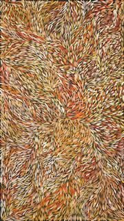 Sale 8722A - Lot 5038 - Jeannie Petyarre (1956 - ) - Bush Yam Leaves 200 x 112cm