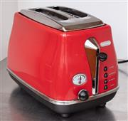 Sale 8891H - Lot 62 - A DeLonghi red toaster