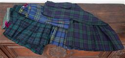 Sale 9120H - Lot 378 - Three kilts in green and blue chequered designs, including by Annie Lants size 16