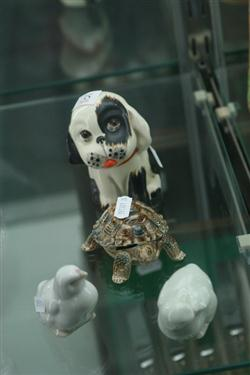 Sale 7914 - Lot 35 - Crown Devon Figure of a Dog with Lladro & Wade Figures