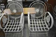Sale 8175 - Lot 1059 - Pair of Ornate Metal Garden Chairs