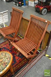 Sale 8262 - Lot 1039 - Set of Four Folding Outdoor Chairs