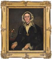 Sale 8389 - Lot 571 - Attributed to Joseph Backler (1813 - 1895) - Portrait of a Woman 89.5 x 72.5cm