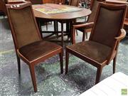 Sale 8566 - Lot 1091 - Set of Six G-Plan Dining Chairs with Brown Fabric Upholstery