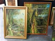 Sale 8659 - Lot 2063 - 2 Large Works: Artist Unknown - Forest, oil on board & Artist unknown - Forest Scene, oil on board