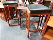 Sale 8782 - Lot 1040 - Pair of Vintage Parker Barstools with Black Leather Seats