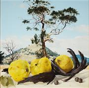 Sale 8975 - Lot 508 - Janet Green (1942 - ) - Still Life with Quinces, near Lanyon, 2005 30 x 30 cm (frame: 45 x 45 x 4 cm)