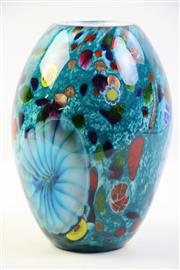 Sale 8997 - Lot 1 - Murano Cased Glass Millefiori Vase, (H:23.5cm)