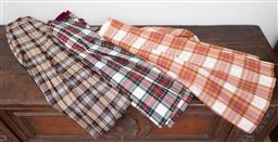 Sale 9120H - Lot 379 - Three kilts in red and beige chequered designs