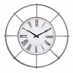 Sale 9140F - Lot 86 - The Station Wall Clock with a durable iron construction and timeless look. Dimensions: W72.5 x D8.3 x H72.5 cm