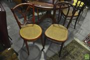 Sale 8305 - Lot 1087 - Five Vintage Bentwood Chairs