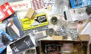 Sale 8376 - Lot 25 - O Gauge Train Parts Transfers and Vehicle Kits; windows, part constructed kit wagon, wheels, Memorable Models 3 ton Mechanical Horse...