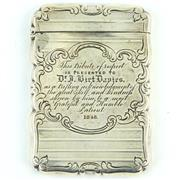 Sale 8356 - Lot 35 - English Hallmarked Sterling Silver Victorian Calling Card Case