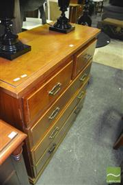 Sale 8380 - Lot 1097 - Timber Chest of Five Drawers