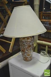 Sale 8392 - Lot 1043 - Pair of Ceramic Table Lamps