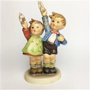 Sale 8456B - Lot 4 - Hummel Figure of a Boy & Girl Bidding Farewell