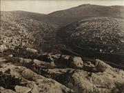 Sale 8751 - Lot 2021 - Attributed to James Pinkerton Campbell - The Hills of Judea, North-west of Jerusalem, December 1917 75 x 101.5cm