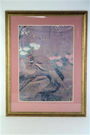 Sale 8835 - Lot 54 - Framed Peacock Print And Another