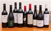 Sale 8891H - Lot 65 - Nine bottles of Australian red wine, various makers and vintages