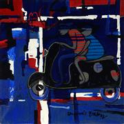 Sale 8947 - Lot 580 - Dennis Baker (1951 - ) - French Lovers (French Wall Series) 2006 76 x 76 cm (total: 76 x 76 x 3 cm)