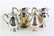 Sale 8948 - Lot 16 - Silver Plated Group Containing Mugs And Coffee Pots