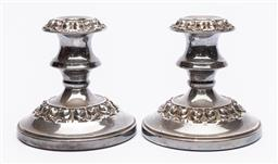 Sale 9170H - Lot 36 - A pair of Hecworth silverplated candle holders, Height 12cm