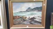 Sale 8282A - Lot 89 - Terry Gleeson (1934 - 1976) - Era Beach and Rocks, 1972 43.5 x 53cm