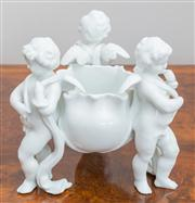 Sale 8470H - Lot 117 - A posy bowl with cherub supports