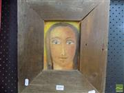 Sale 8518 - Lot 2070 - Margaret Cole Icon, 1996 oil on canvas, 18 x 13cm, signed lower left
