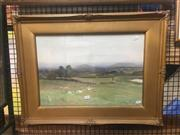 Sale 8751 - Lot 2044 - George Oyston (1861 - 1937) - Pastoral Scene with Sheep 35 x 50.5cm