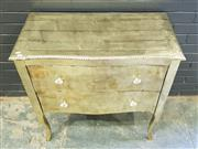 Sale 8996 - Lot 1003 - Brass Clad 2 Drawer Elevated Chest (h:90 x w:90 x d:45cm)