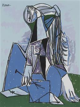 Sale 9180A - Lot 5054 - PABLO PICASSO (1881 - 1973) The Thinker giclee, ed. 195/300 60 x 45 cm (frame: 91 x 74 x 3 cm) .