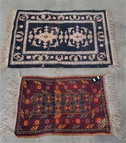 Sale 9255 - Lot 1301 - Persian woollen rug and another (95 x 63cm)