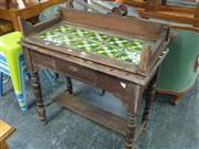 Sale 7969A - Lot 1032 - Single Wash Stand w Tiled Back