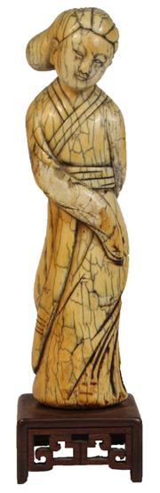 Sale 7978 - Lot 78 - Ivory Carved Figure of a Lady