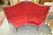 Sale 8175 - Lot 1020 - Carved Corner Lounge in Red