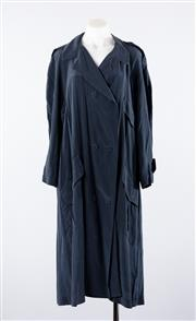 Sale 8760F - Lot 25 - A double breasted Zimmerman deep blue silk trenchcoat, size 2