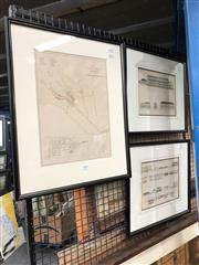 Sale 8779 - Lot 2088 - Three Architectural Prints of Colonial Sydney, frame size: 53 x 43 (largest)